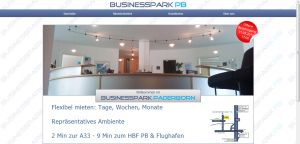 BusinessPark Paderborn Screenshot